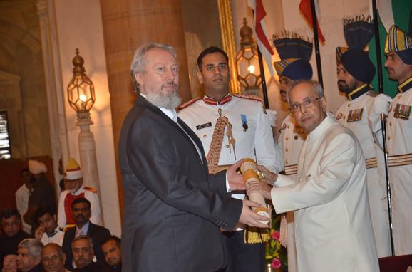 Prof. dr Predrag Nikić sa predsednikom Indije Pranabom Mukherdžijem