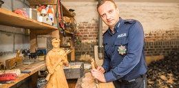 Policjant rzeźbi po godzinach