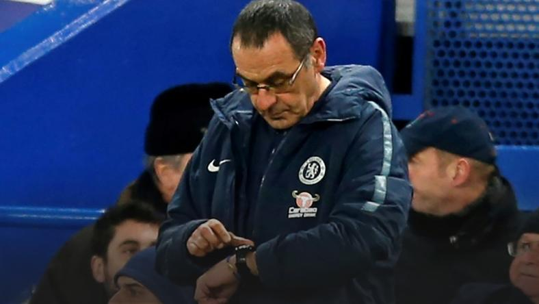 Time may be up for Chelsea manager Maurizio Sarri if he loses Sunday's League Cup final