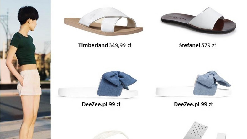 Na lato idealnym wyborem będą klapki albo sandały...