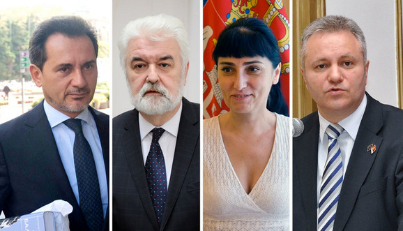Božidar Đelić, Mirko Cvetković, Diana Dragutinović i Mlađan Dinkić