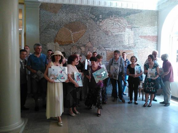 Ceremonija u foajeu opštine Zemun