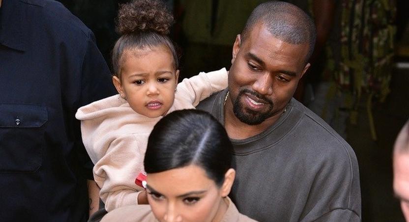 Kim Kardashian, North and Kanye WEst in Armenia
