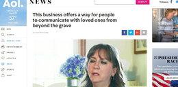 Pielęgniarka pomaga rozmawiać ze zmarłymi