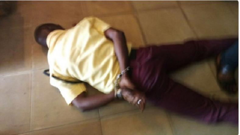 The LASTMA official being punished