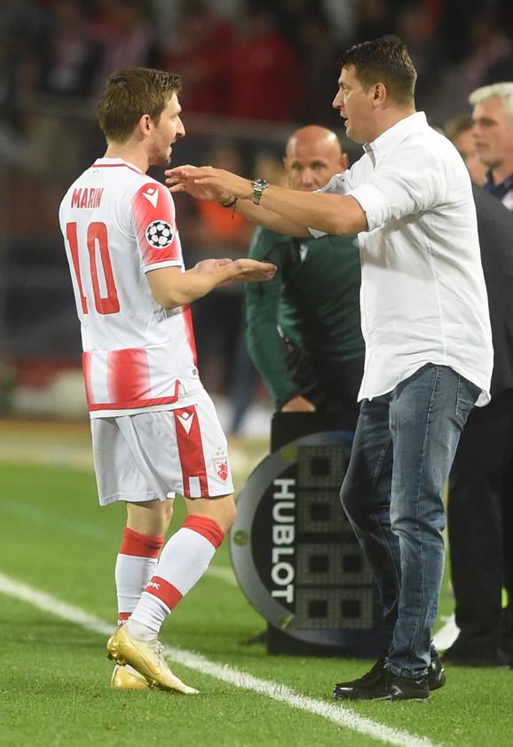 Marko Marin u razgovoru sa trenerom Milojevićem