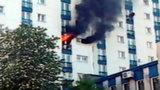 Pożar bloku w Dąbrowie Górniczej