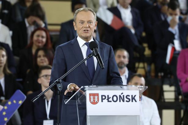 Lider PO Donald Tusk mówił o zmianie konstytucji podczas weekendowej konwencji partii