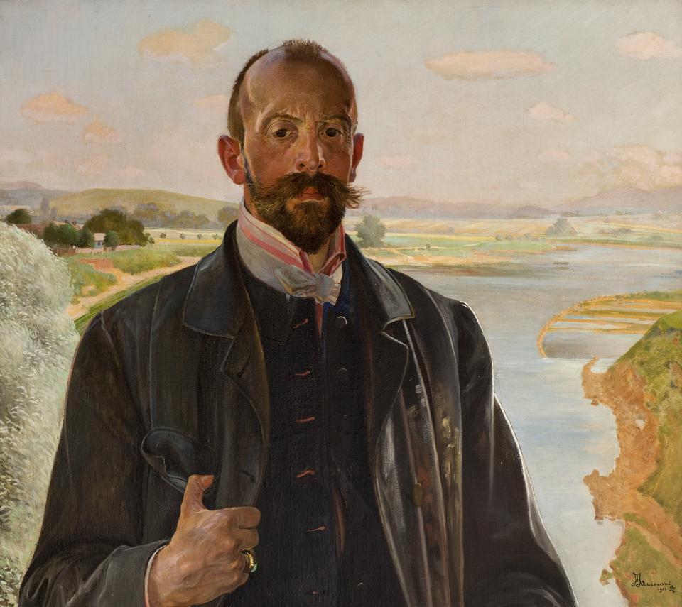 Jacek Malczewski, Autoportret, olej na płótnie, fot. MNK