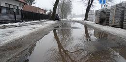 Błoto zalało ulicę w Lublinie