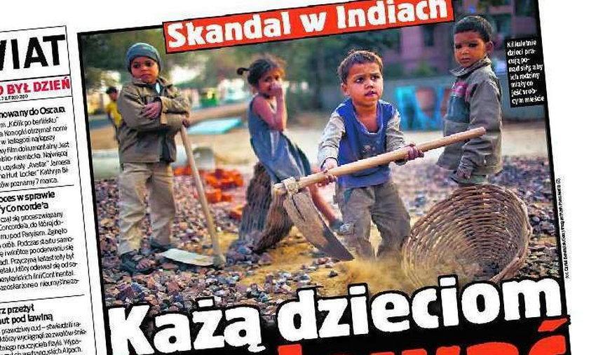 dzieci pracują na budowie