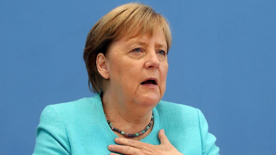 Angela Merkel na konferencji prasowej