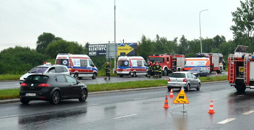 Miejsce wypadku Błęckiej-Kolskiej