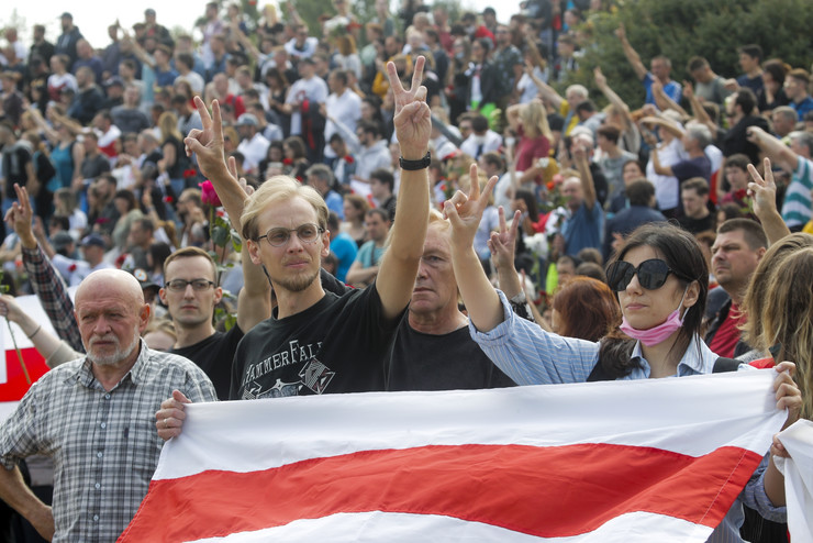 Minsk, sahrana, protesti