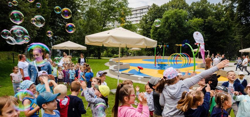 Hurra, mamy plac zabaw. Czwarty wodny plac zabaw w Katowicach hula w najlepsze