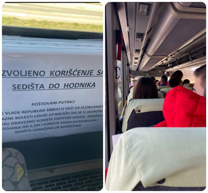 Scena iz autobusa na relaciji Beograd-Valjevo