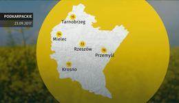 Prognoza pogody dla woj. podkarpackiego - 23.09