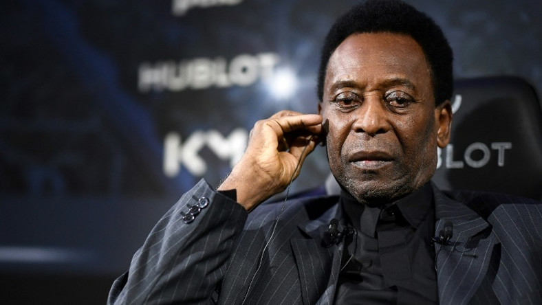Pele was taken to hospital in Paris after appearing in this promotional event in the French capital on Tuesday