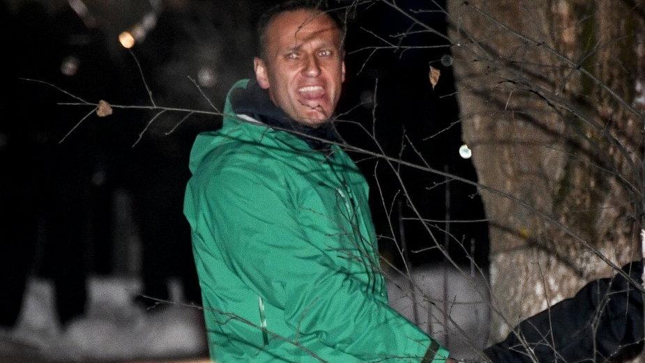 Aleksiej Nawalny eksortowany przez policję. Chimki 18 stycznia 2021 r.