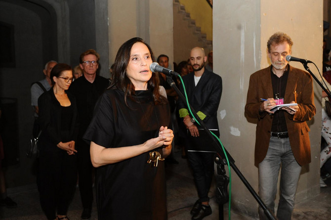 Gordana Gončić na otvaranju Oktobarskog salona prošle godine u Beogradu