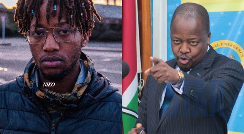 He is a very good rapper- CS Mutahi Kagwe opens up on his rapper son Kahu$h