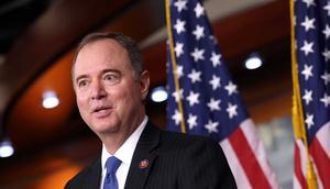 Rep. Adam Schiff speaks at a news conference on September 21, 2021.