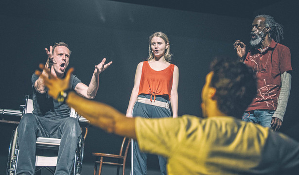 Zdjęcie z próby spektaklu. Fot. Magda Hueckel
