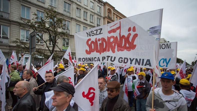 """Związkowcy z """"Solidarności"""""""