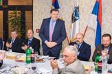 Milorad Dodik, Čedomir Janjić i Mirko Butulija na skupu