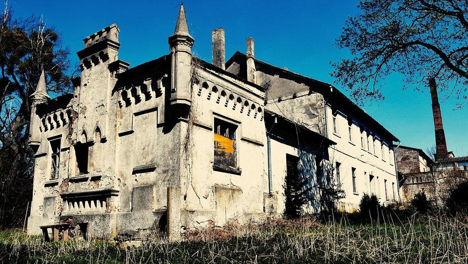 Niszczejący Pałac w pewnym upadłym PGR-ze