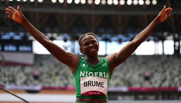 Ese Brume is the first Nigerian medal winner at the Tokyo Olympics  (Reuters / Aleksandra Szmigiel)