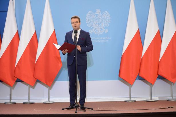 Rzecznik prasowy rządu Rafał Bochenek, PAP/Jacek Turczyk