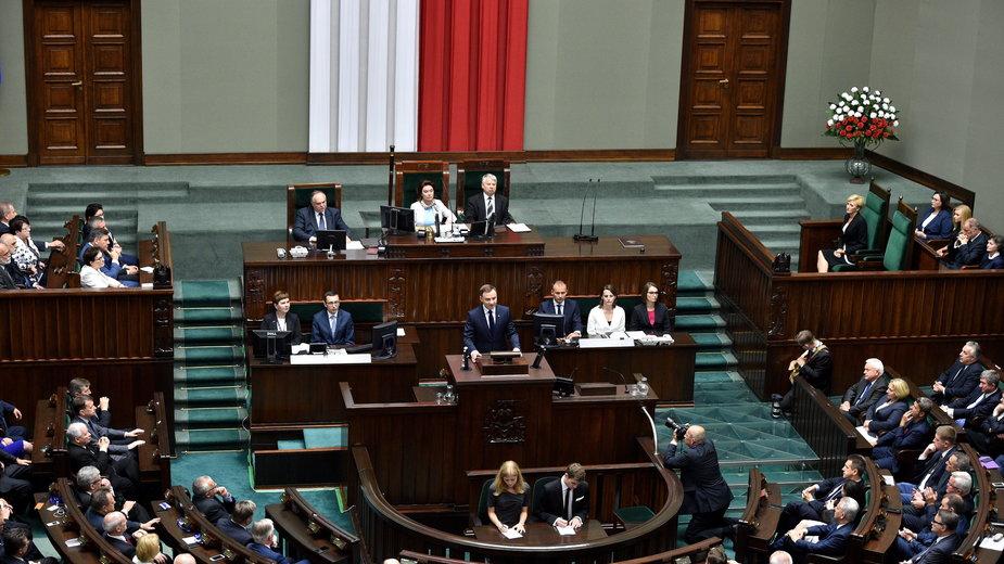 Zaprzysiężenie Andrzeja Dudy w 2015 r.