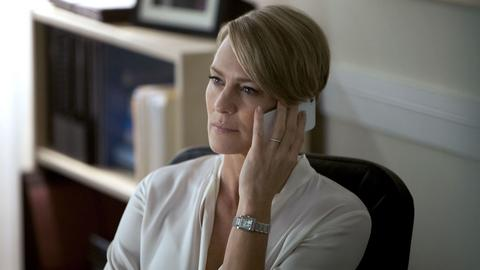 "Robin Wright jako Claire Underwood w serialu ""House of Cards"""