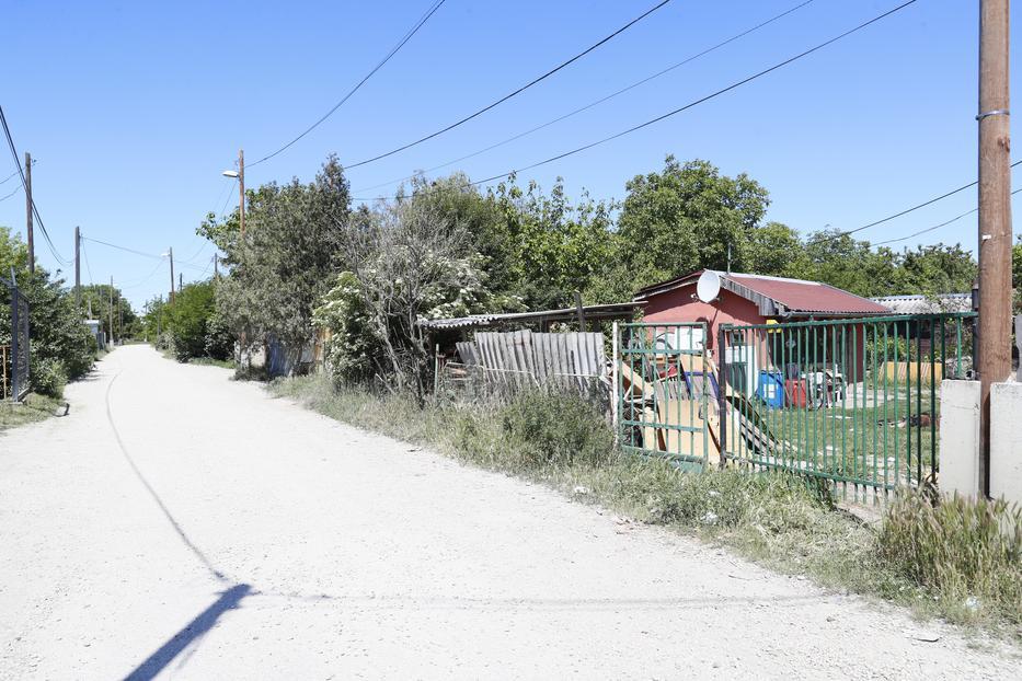 Itt, az Almafa utcában harapta meg a kutya előbb a szomszéd kislányt, majd az utcán közeledő anyát és lányát is / Fotó: Fuszek Gábor
