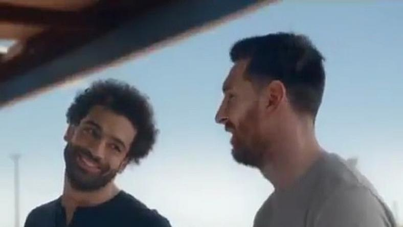 Lionel Messi and Mohamed Salah both showed off their accuracy skills in the new Pepsi advert [Twitter]