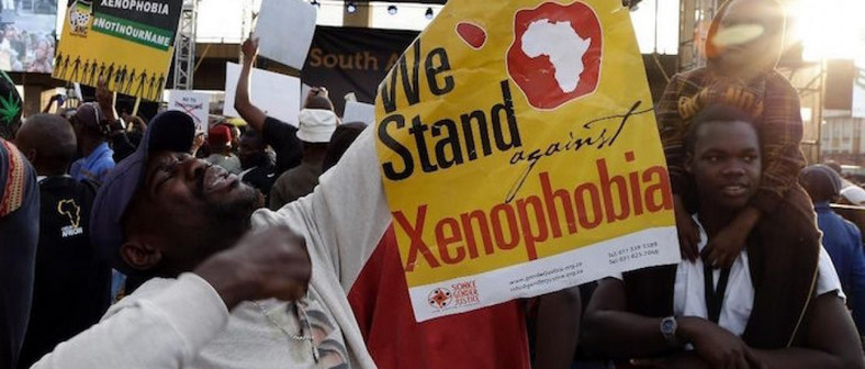 Group stages a protest against xenophobic attacks in South Africa [issafrica]