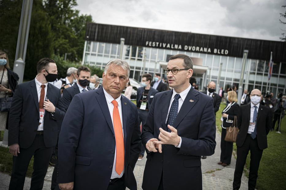Orbán és Morawiecki lengyel miniszterelnök ma Budapesten beszélik át a vétó és a jogállami mechanizmus ügyét / Fotó: MTI/Miniszterelnöki Sajtóiroda/Benko Vivien Cher