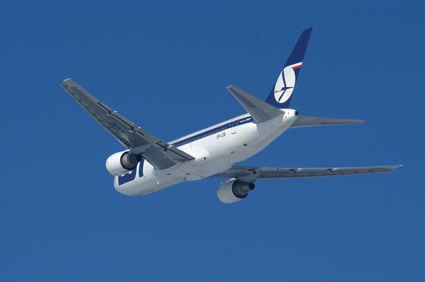 Boeing 767-300 ER należący do PLL LOT. Fot. materiały PLL LOT
