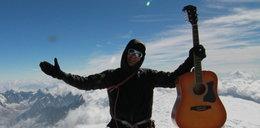 Co? Kupicha wszedł z gitarą na Mont Blanc!