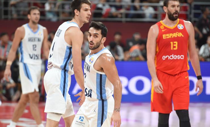 Košarkaška reprezentacija Španije, Argentine, Košarkaši, Detalj sa meča Španija - Argentina u finalu Svetskog prvenstva u Kini