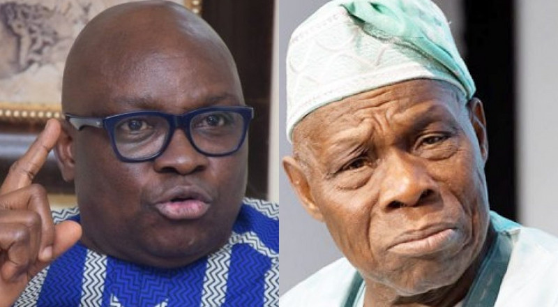 'Stop acting like a saint,' Fayose slams Obasanjo over his comment on Kashamu