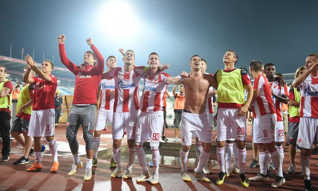 Slavlje crveno-belih posle pobede nad Čukaričkim
