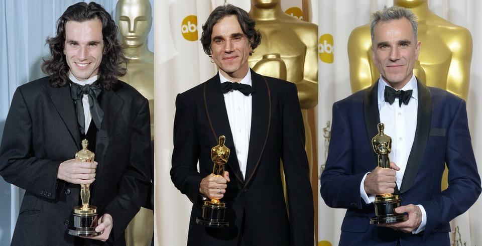 """Daniel Day-Lewis - ceremonia w 1990 roku, Oscar za pierwszoplanową rolę w """"Mojej lewej stopie"""""""