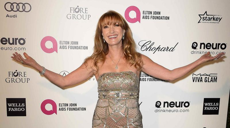 Jane Seymour arrives at the 2015 Elton John AIDS Foundation Oscar Party in West Hollywood