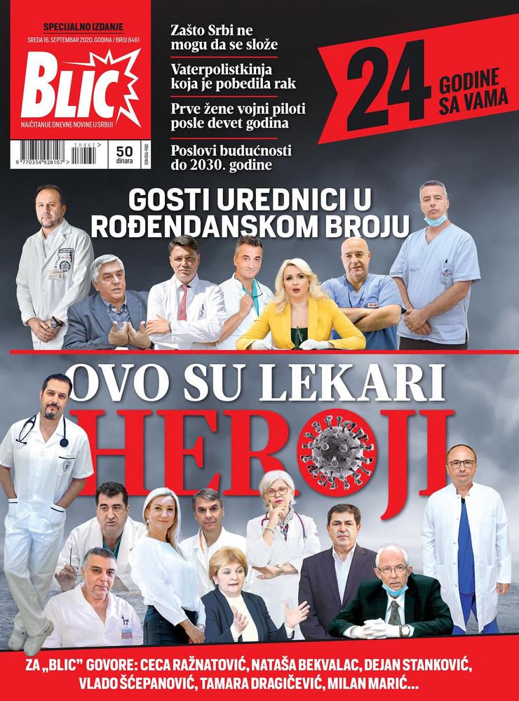 Naslovna za 16. 9. Blic