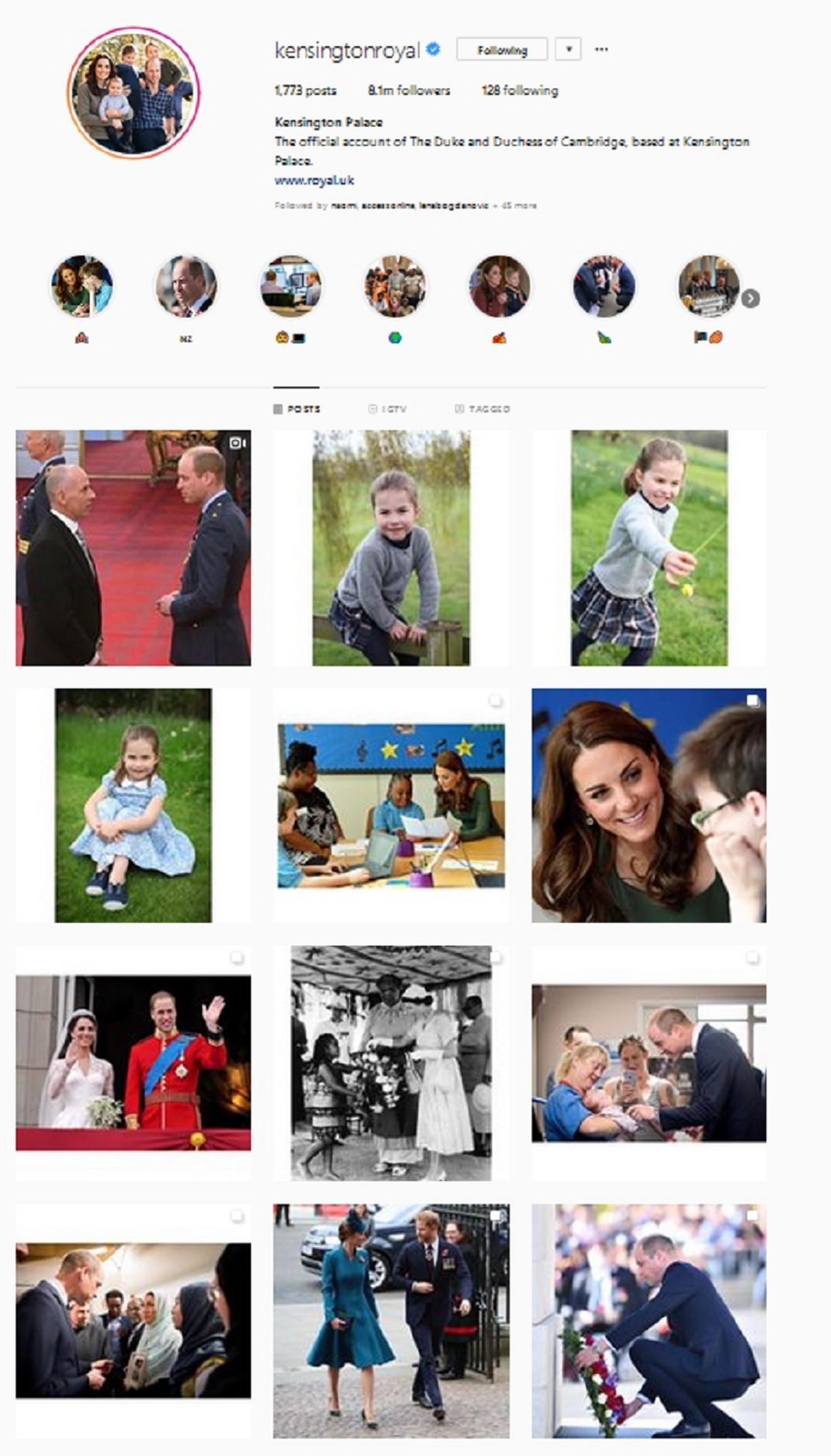Kejt sa porodicom na Instagramu