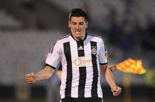 Petar Grbić iz vremena dok je nastupao za Partizan, iz kog je prešao u turski Akhisar 2016.