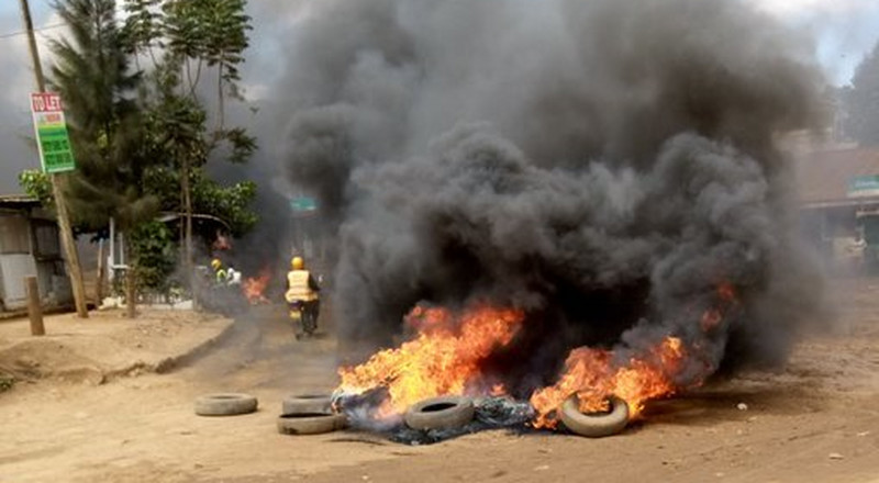 Kawangware on fire as residents hold protests (Photos)