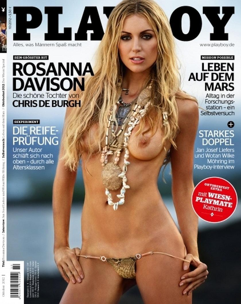 Rosanna Davison w niemieckim Playboyu